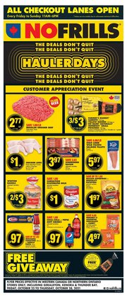 Grocery deals in the No Frills catalogue ( 3 days left)
