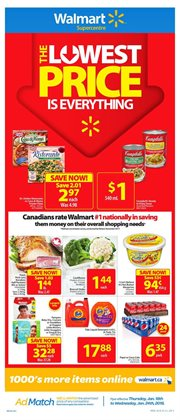 Walmart deals in the London flyer