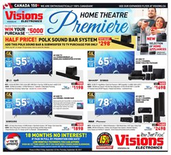 Visions Electronics deals in the Toronto flyer