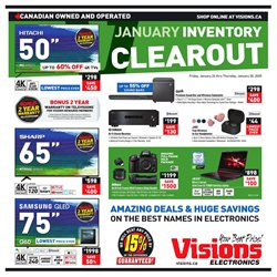 Electronics offers in the Visions Electronics catalogue in Edmonton