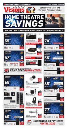 Electronics deals in the Visions Electronics catalogue ( Published today)