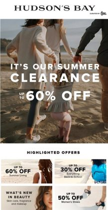 Back to School deals in the Hudson's Bay catalogue ( Expires tomorrow)