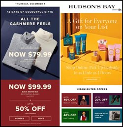 Hudson's Bay catalogue ( Expired )