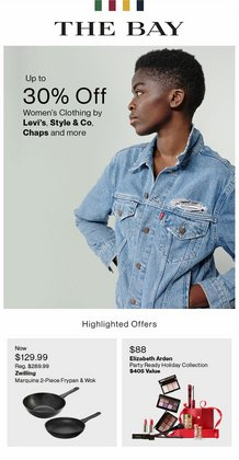 Clothing, Shoes & Accessories deals in the Hudson's Bay catalogue ( Published today)