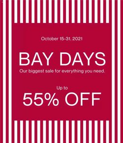Clothing, Shoes & Accessories deals in the Hudson's Bay catalogue ( 6 days left)