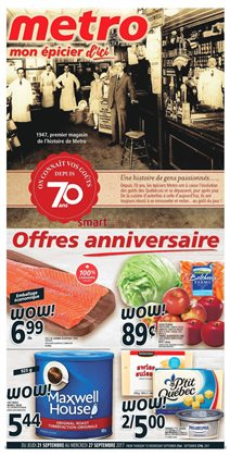 Metro deals in the Montreal flyer