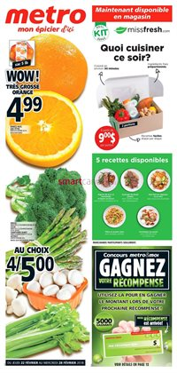 Grocery offers in the Metro catalogue in Gatineau