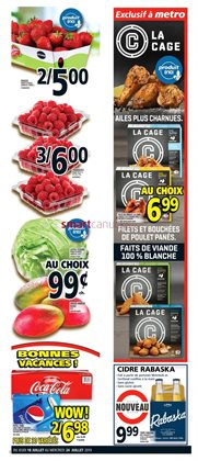 Metro deals in the Quebec flyer