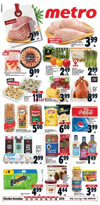 Metro deals in the Toronto flyer