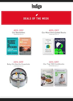Chapters Indigo deals in the Toronto flyer