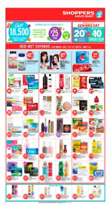 Shoppers Drug Mart deals in the Hamilton flyer