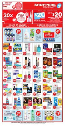 Shoppers Drug Mart deals in the Chatham-Kent flyer