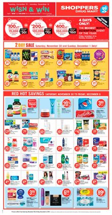 Shoppers Drug Mart deals in the Georgetown flyer