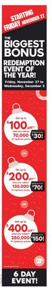 Cyber Monday deals in the Shoppers Drug Mart catalogue ( 2 days left)