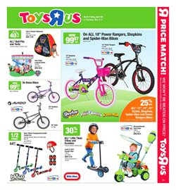 Toys R us deals in the Montreal flyer