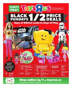 Toys R us deals in the Sudbury flyer
