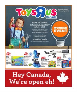 Kids, Toys & Babies offers in the Toys R us catalogue in Ottawa