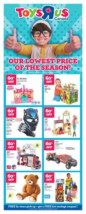 Toys R us deals in the Parksville flyer