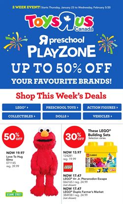 Toys R us deals in the Calgary flyer