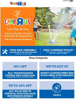 Kids, Toys & Babies offers in the Toys R us catalogue in Winnipeg ( 2 days left )
