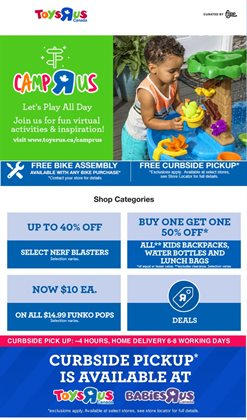 Kids, Toys & Babies offers in the Toys R us catalogue in Edmonton ( Expires tomorrow )