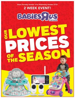 Kids, Toys & Babies deals in the Toys R us catalogue ( 7 days left)