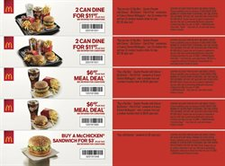 Restaurants offers in the McDonald's catalogue ( 10 days left )