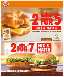 Burger King deals in the Toronto flyer