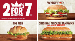 Burger King deals in the Montreal flyer