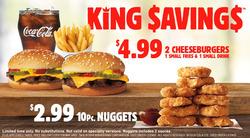 Burger King deals in the Hamilton flyer