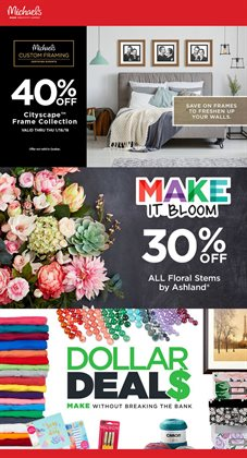 Home & furniture offers in the Michaels catalogue in Winnipeg