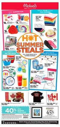 Michaels deals in the Calgary flyer