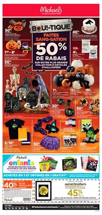 Michaels deals in the Montreal flyer