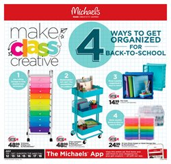 Michaels deals in the Vancouver flyer