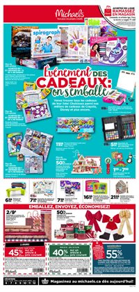 Michaels deals in the Quebec flyer