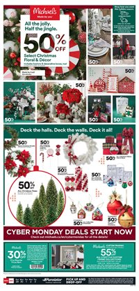 Cyber Monday deals in the Michaels catalogue ( Expires tomorrow)