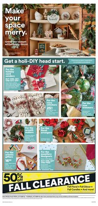 Home & Furniture deals in the Michaels catalogue ( 3 days left)