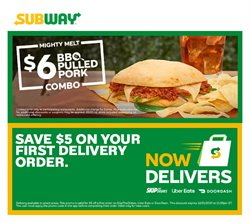 Restaurants offers in the Subway catalogue in Montreal