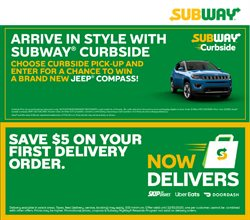 Restaurants offers in the Subway catalogue ( More than a month )