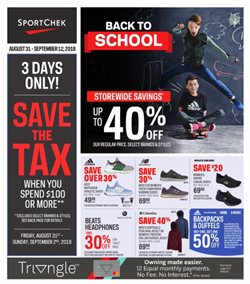 Sport Chek deals in the Prince George flyer