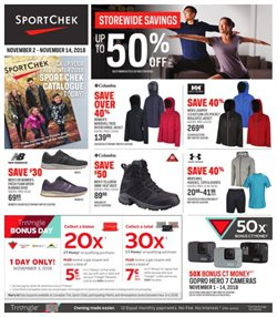 Sport Chek deals in the Calgary flyer