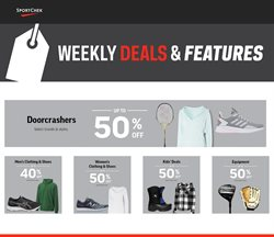 Sport offers in the Sport Chek catalogue in Winnipeg