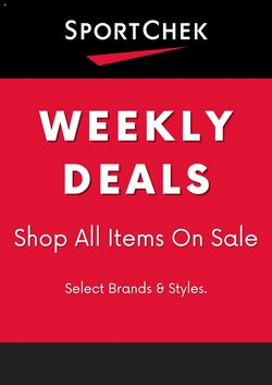 Sport deals in the Sport Chek catalogue ( 6 days left)