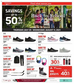 Sport Chek deals in the Sport Chek catalogue ( Published today)