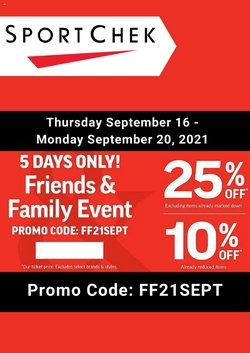 Sport deals in the Sport Chek catalogue ( Expires tomorrow)
