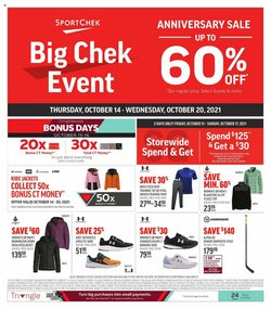 Sport deals in the Sport Chek catalogue ( Expires today)