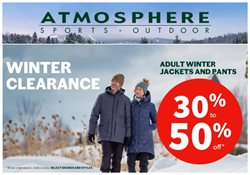Sport offers in the Atmosphere catalogue in Toronto