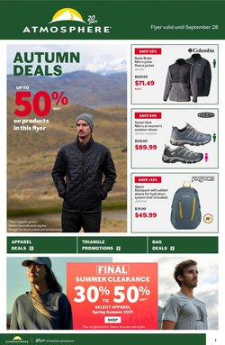 Sport deals in the Atmosphere catalogue ( 9 days left)