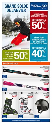 Sports Experts deals in the Quebec flyer