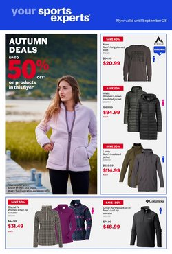 Sport deals in the Sports Experts catalogue ( Expires tomorrow)